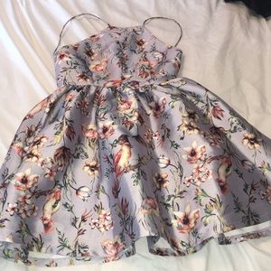 Beautiful light blue Floral Dress worn once
